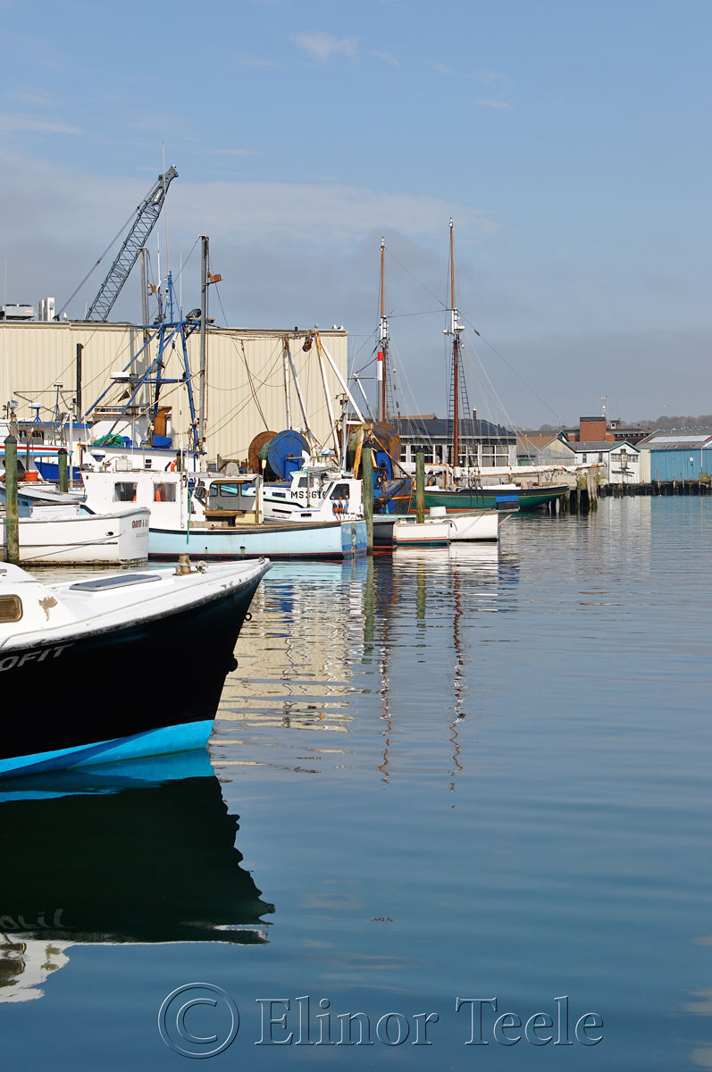 Fog Lifting on Gloucester Harbor, Gloucester MA 5
