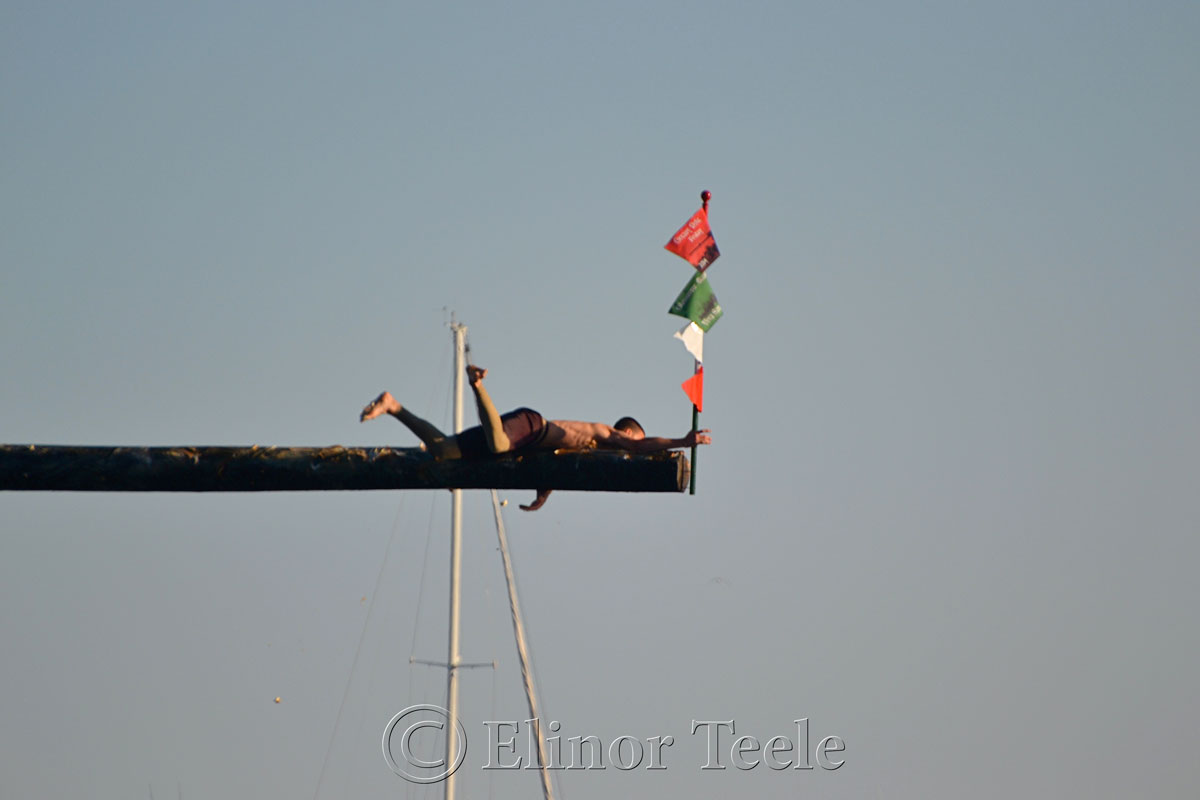 Jack Russ, Greasy Pole Winner, Friday 6/27/14, Gloucester MA 1