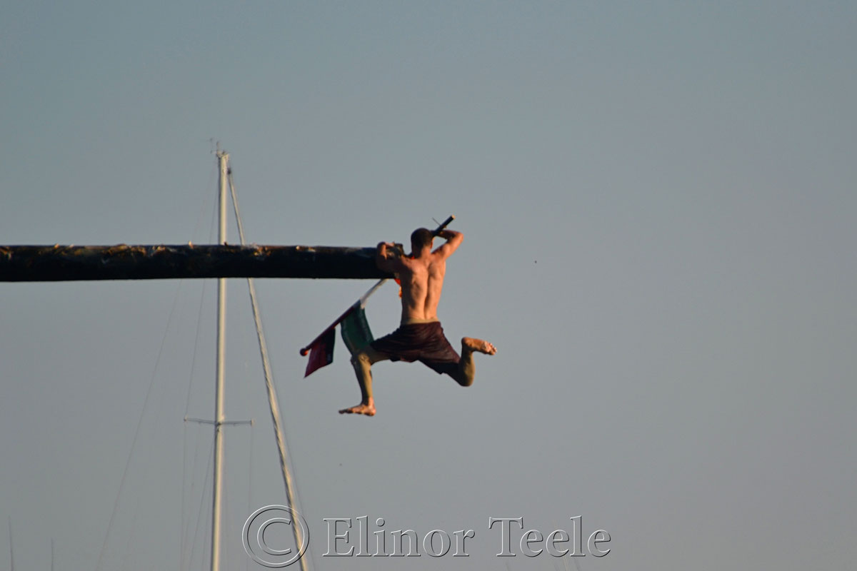 Jack Russ, Greasy Pole Winner, Friday 6/27/14, Gloucester MA 2