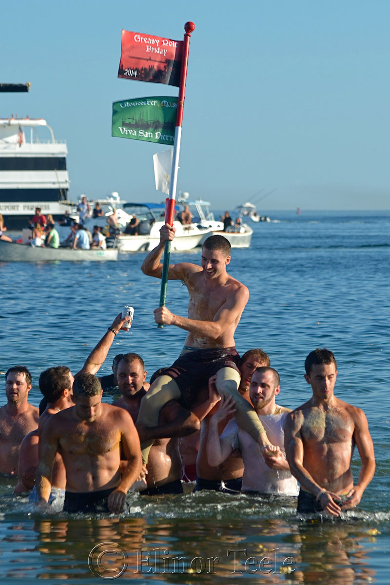 Jack Russ, Greasy Pole Winner, Friday 6/27/14, Gloucester MA 3