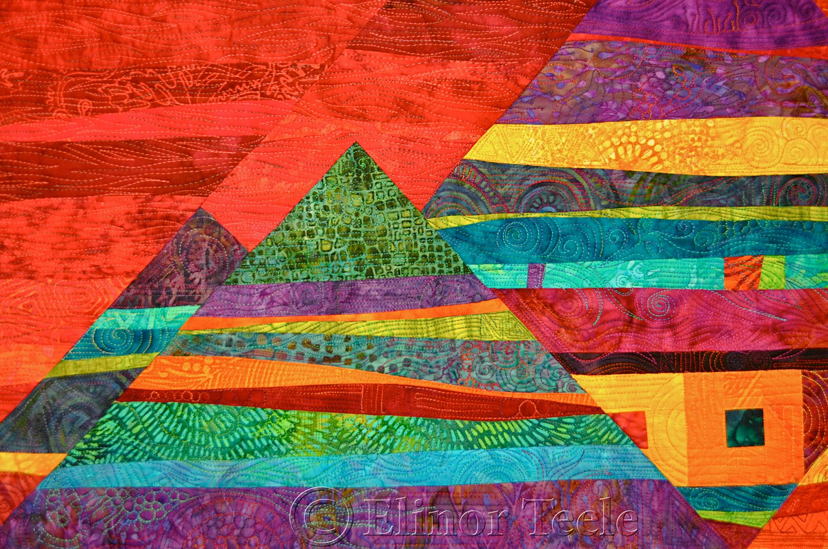 Metropolis by Laima Whitty, Quilters' Connection Show 2014