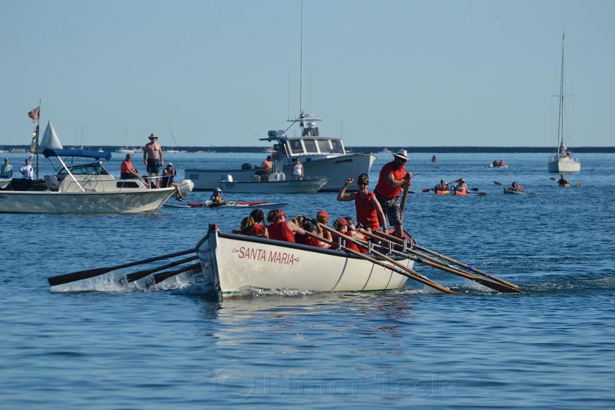 Oardacious Coming Home, Seine Boat Races, Fiesta, Gloucester MA 1