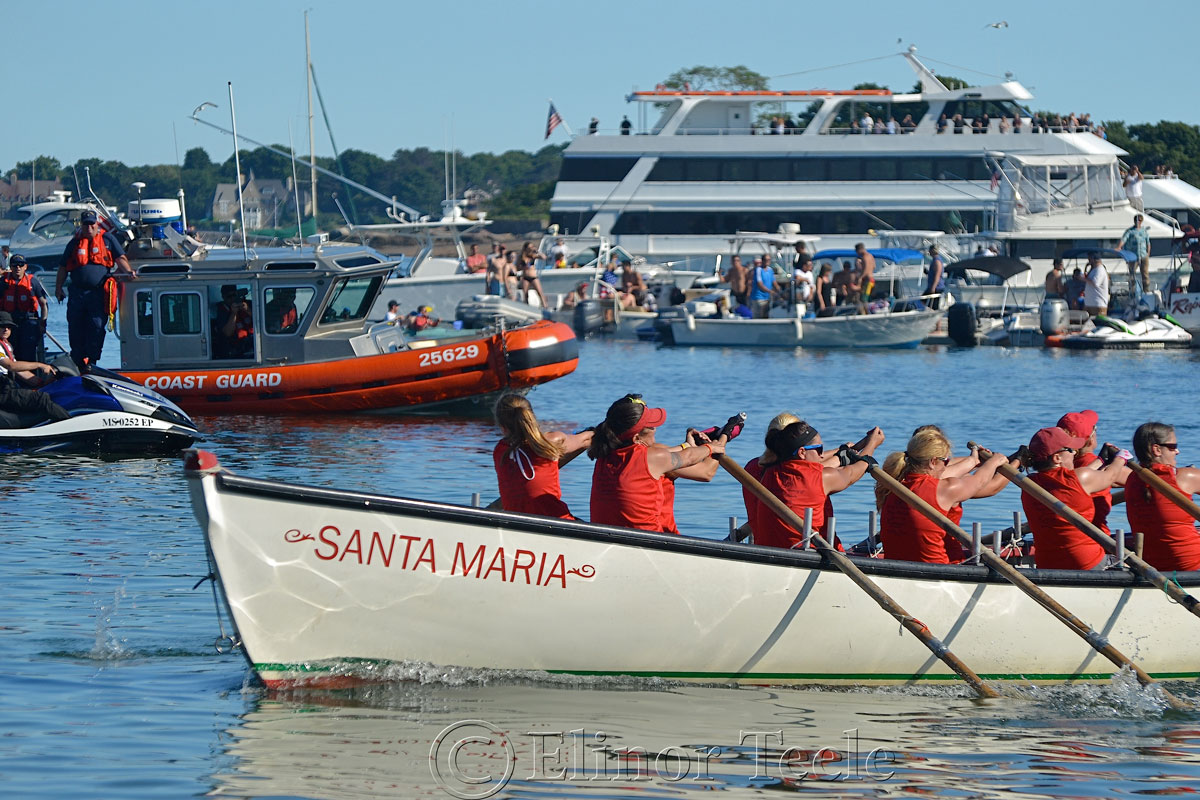 Oardacious Coming Home, Seine Boat Races, Fiesta, Gloucester MA 2