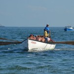 Paul Giacalone's Crew Coming Home, Seine Boat Races, Fiesta, Gloucester MA