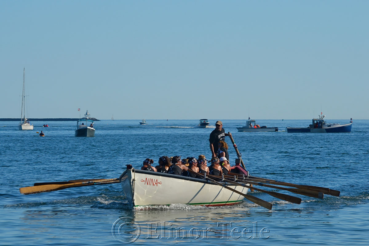 Rowgue Coming Home, Seine Boat Races, Fiesta, Gloucester MA