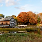 Burnham Boatbuilding, October Foliage, Essex MA