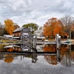 Fall Foliage, Burnham Boatbuilding, Essex MA 1