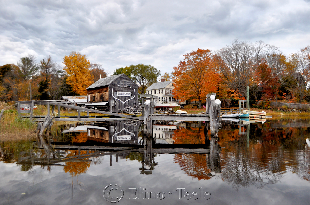 Fall Foliage, Burnham Boatbuilding, Essex MA 1