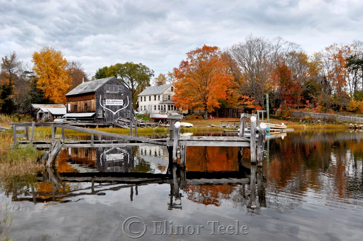 Fall Foliage, Burnham Boatbuilding, Essex MA 4
