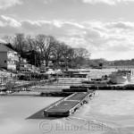 Annisquam Harbor Iced In - Black and White