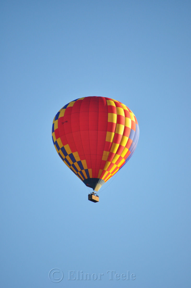 Hot Air Balloon Over Arrowtown 1