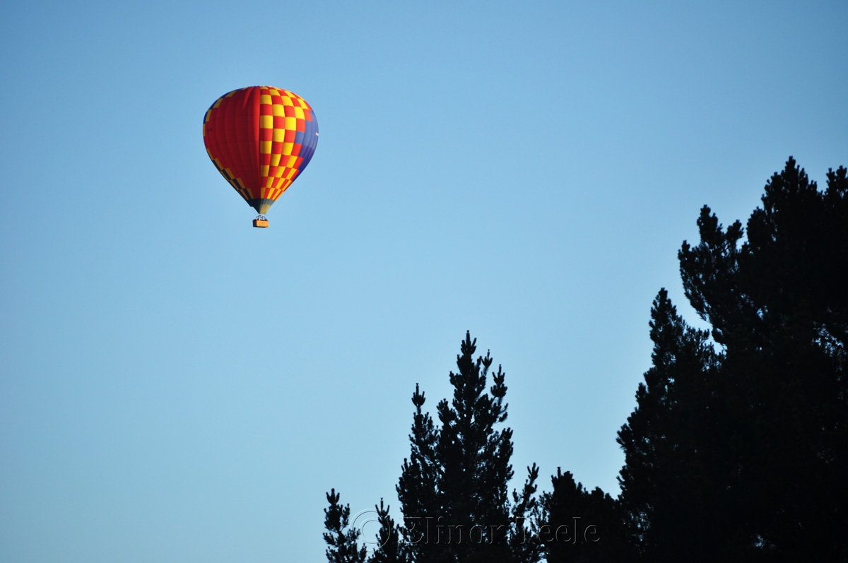 Hot Air Balloon Over Arrowtown 3
