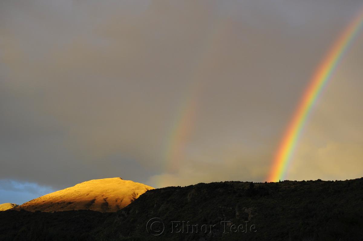 Rainbow Over Arrowtown 2
