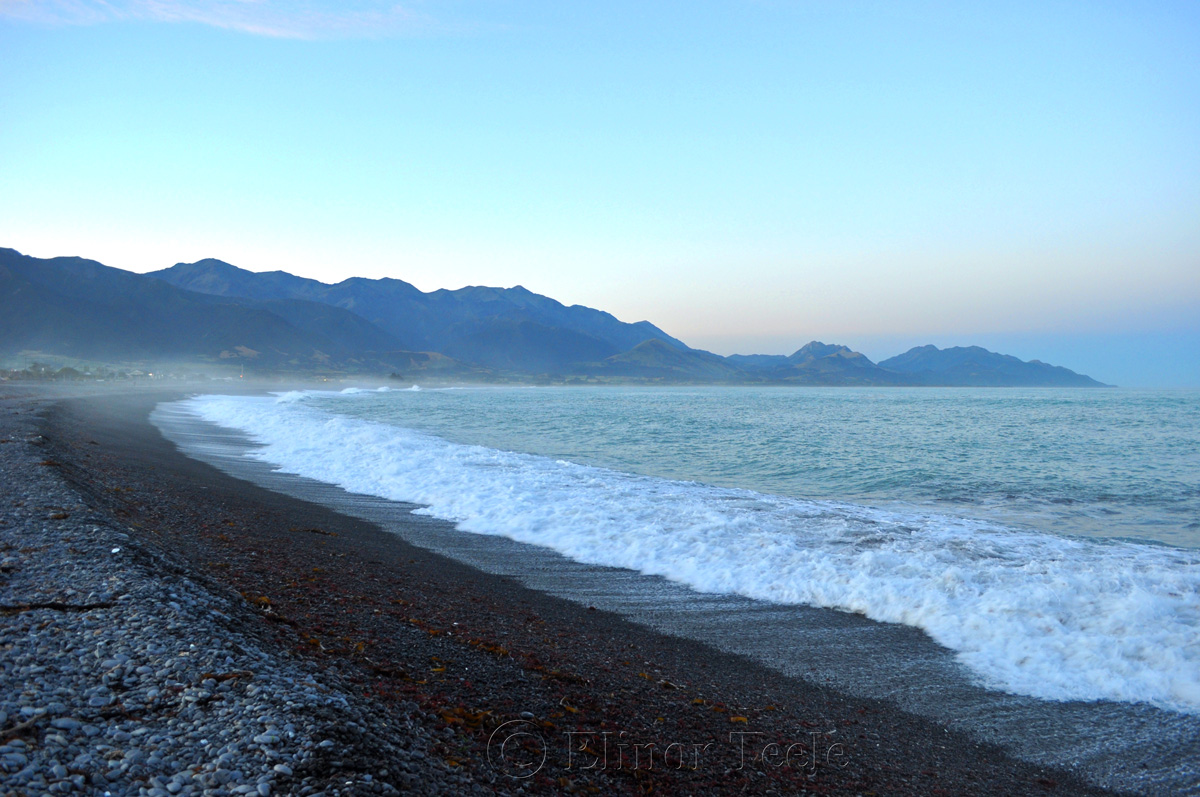 Kaikoura Beach at Twilight, South Island 1