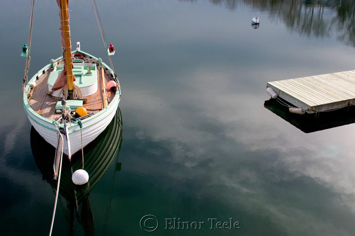 Boat and Dock, Annisquam Harbor