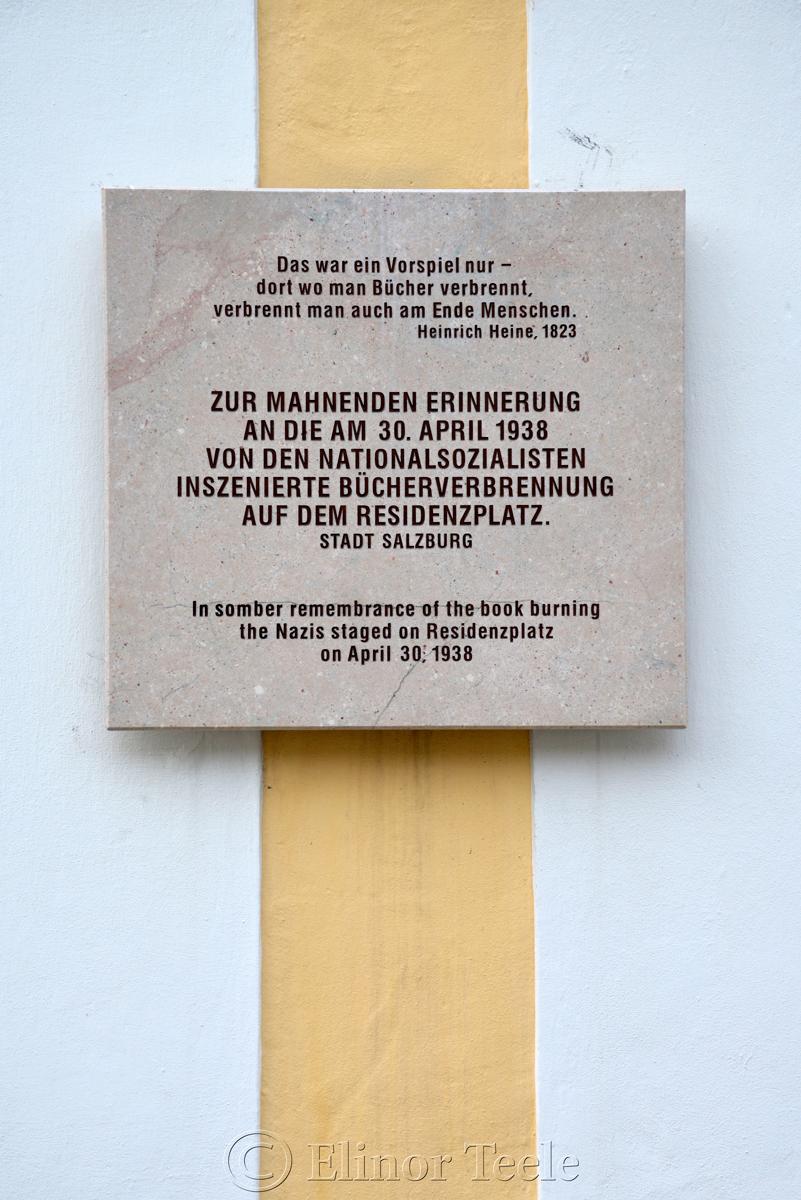 Book Burning, Salzburg, Austria