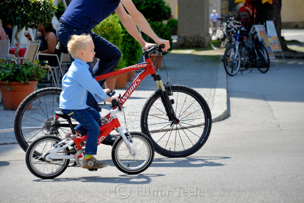 Boy on a Bike, Salzburg, Austria