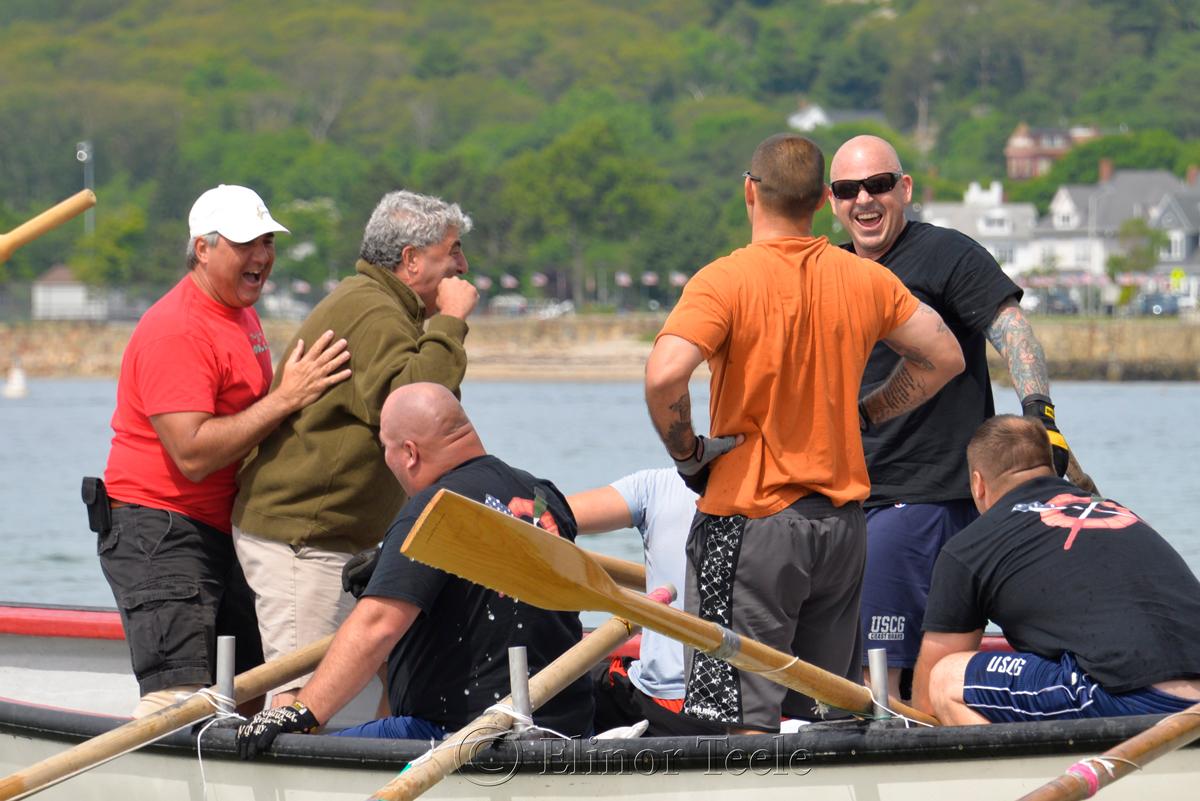 Celebrations, Coast Guard, Saturday Seine Boat Races, Fiesta 2015, Gloucester MA 2