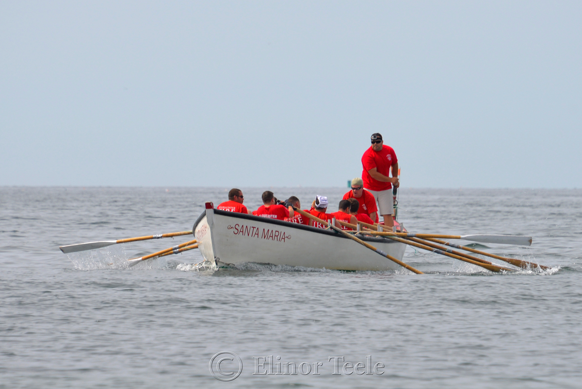 Coming Home, Fire Department, Saturday Seine Boat Races, Fiesta 2015, Gloucester MA