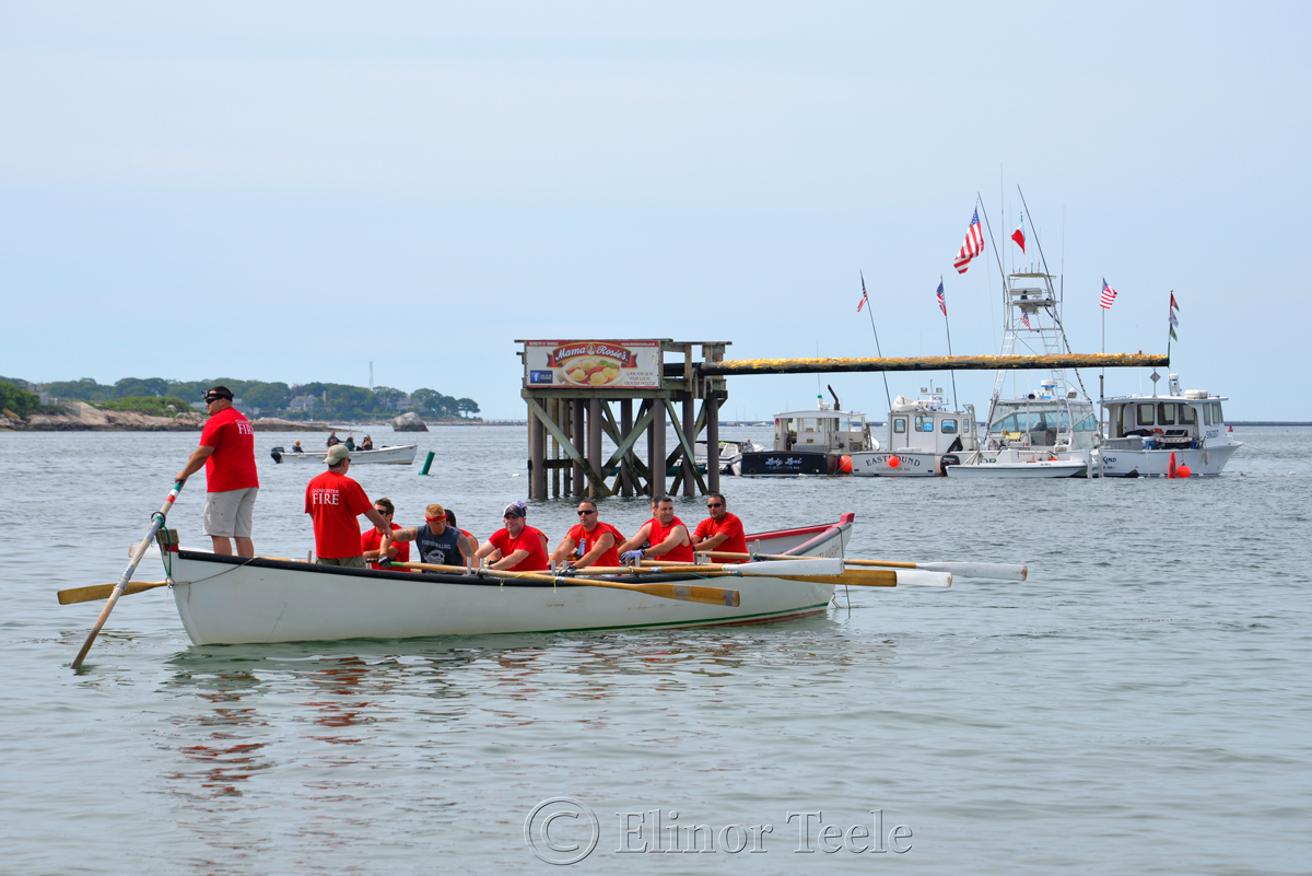 Greasy Pole, Fire Department, Saturday Seine Boat Races, Fiesta 2015, Gloucester MA