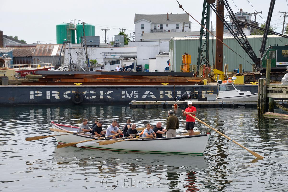 Heading Out, Coast Guard, Saturday Seine Boat Races, Fiesta 2015, Gloucester MA