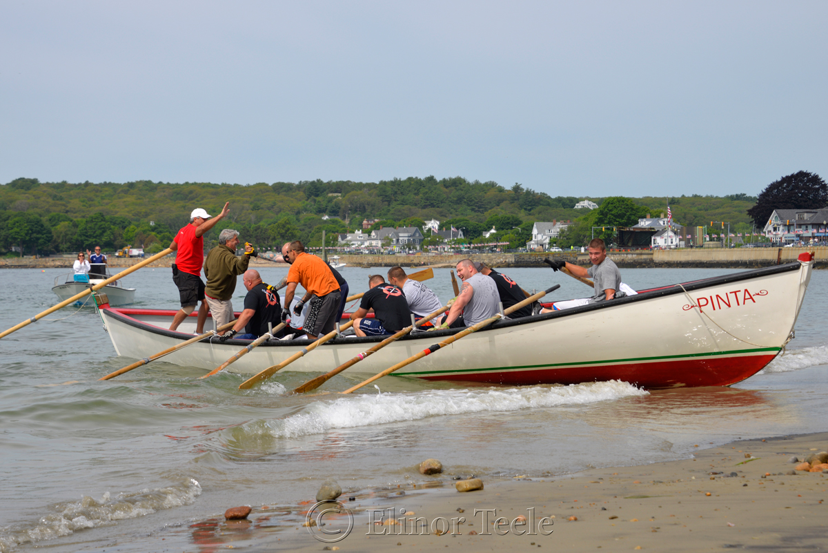 Hitting the Beach, Coast Guard, Saturday Seine Boat Races, Fiesta 2015, Gloucester MA