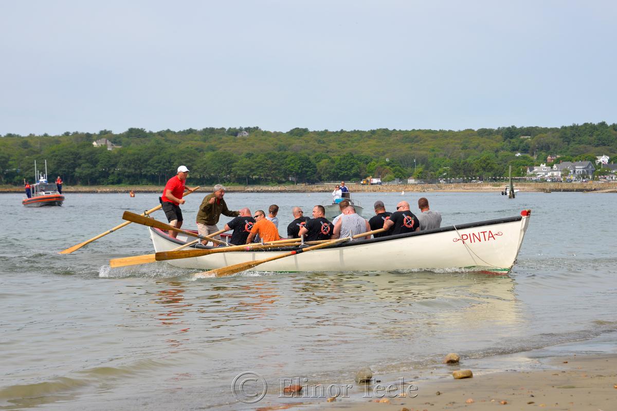 Last Push, Coast Guard, Saturday Seine Boat Races, Fiesta 2015, Gloucester MA