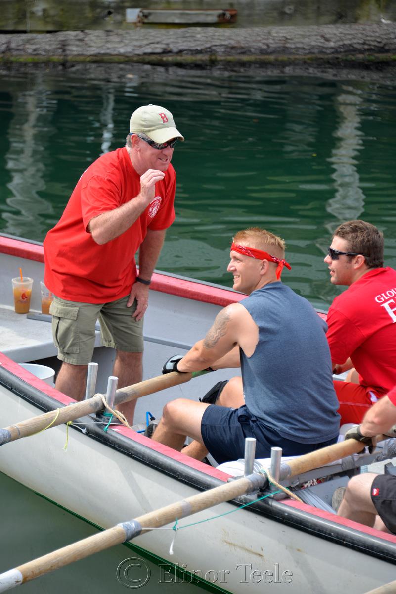 Pep Talk, Fire Department, Saturday Seine Boat Races, Fiesta 2015, Gloucester MA