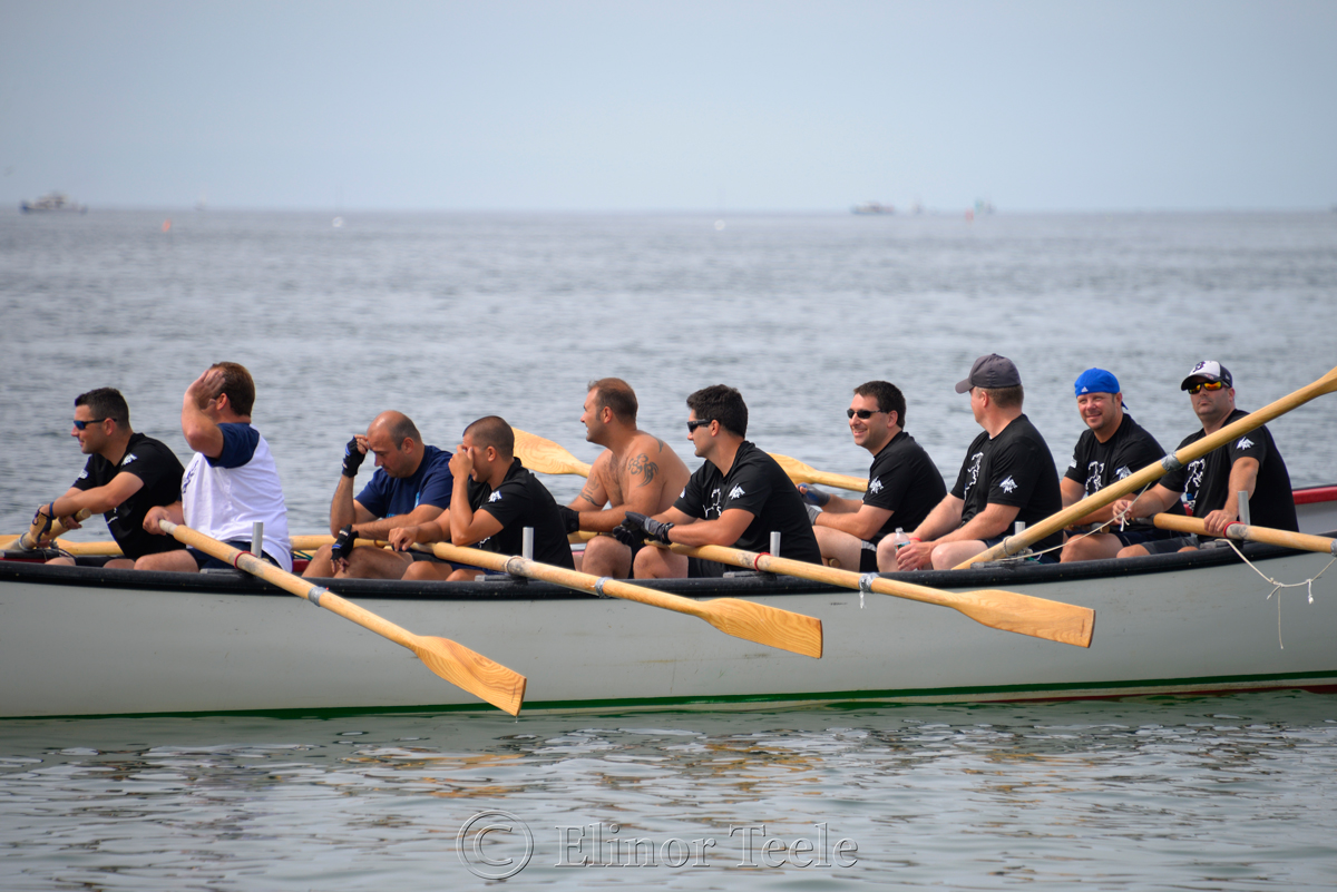 Waiting, Police Department, Saturday Seine Boat Races, Fiesta 2015, Gloucester MA