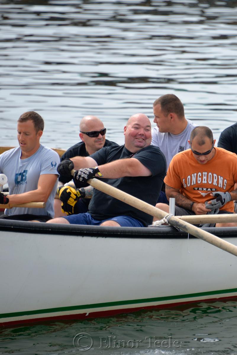 Warm Up, Coast Guard, Saturday Seine Boat Races, Fiesta 2015, Gloucester MA