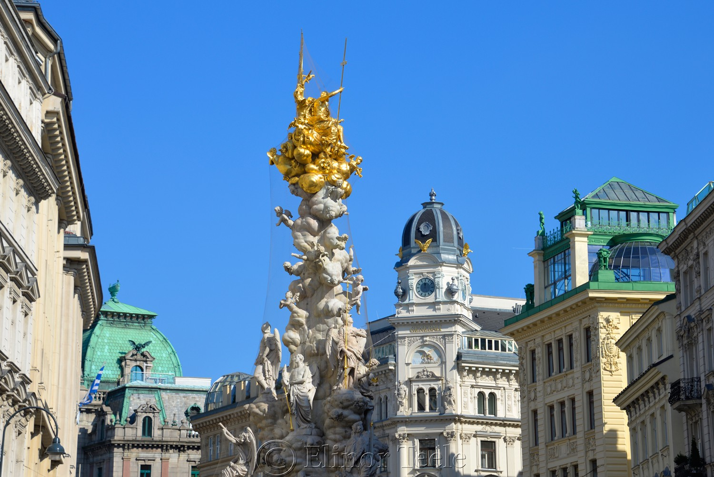 Pestsäule (Plague Column) & Graben, Vienna, Austria