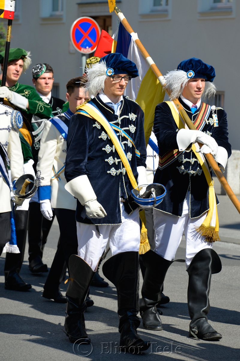 Blue & Yellow, Corpus Christi Procession, Graz, Austria