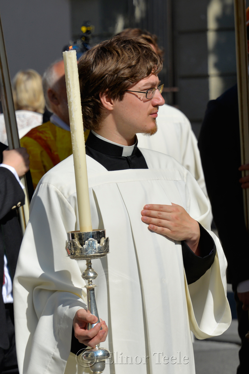 Candle in the Light, Corpus Christi Procession, Graz, Austria