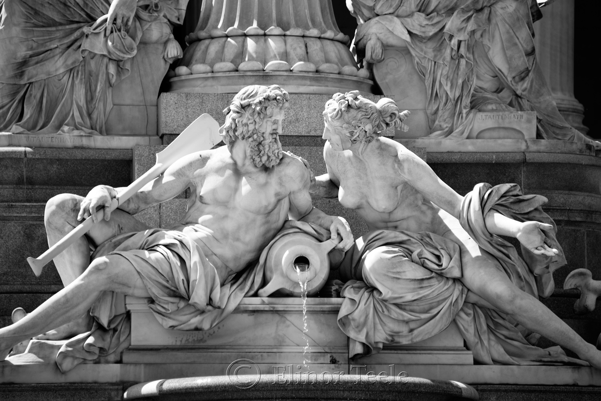 Danube and Inn, Pallas Athene Fountain, Parliament, Vienna, Austria