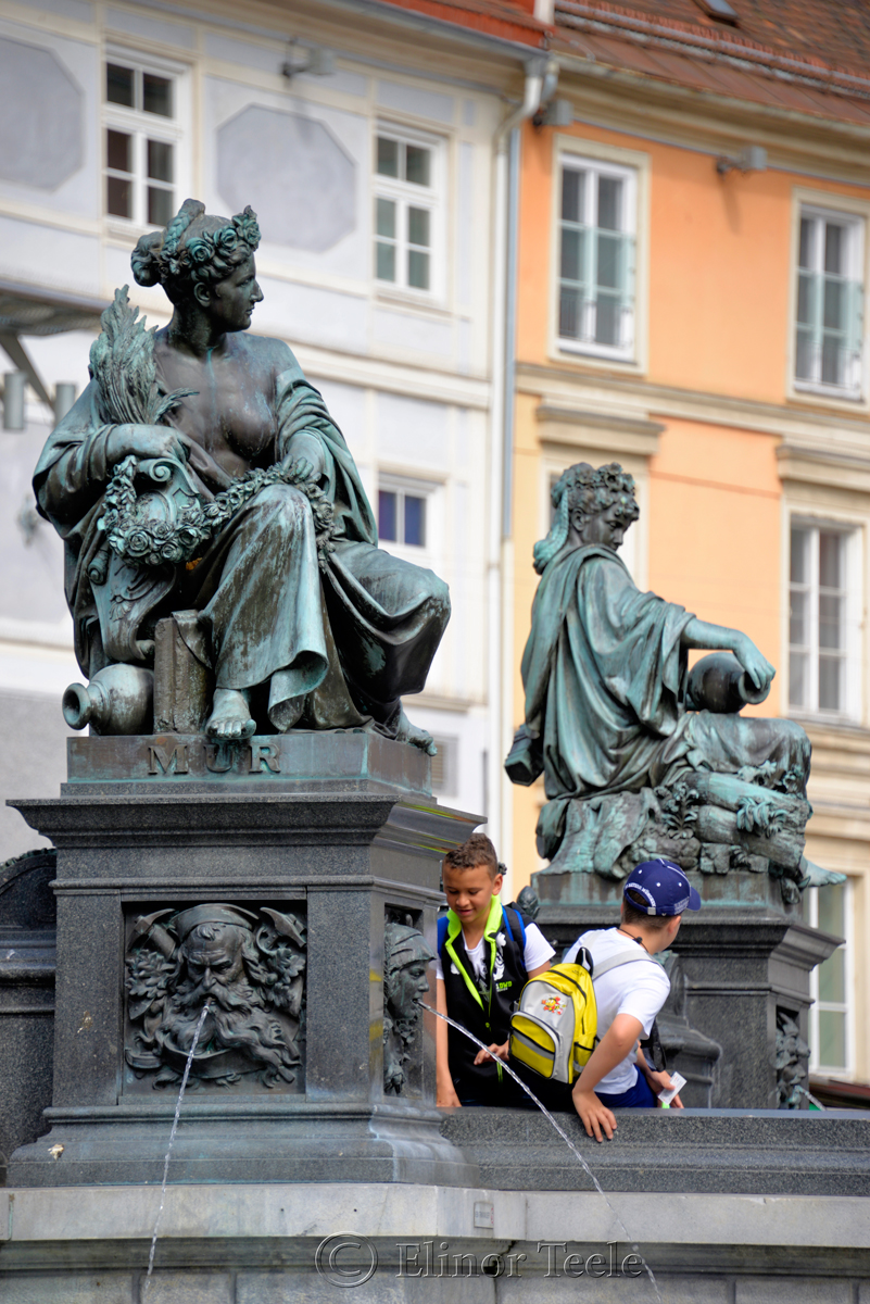 Archduke Johann Fountain, Hauptplatz, Graz, Austria 2