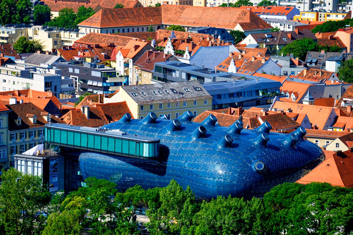 Aerial View, Kunsthaus, Graz, Austria