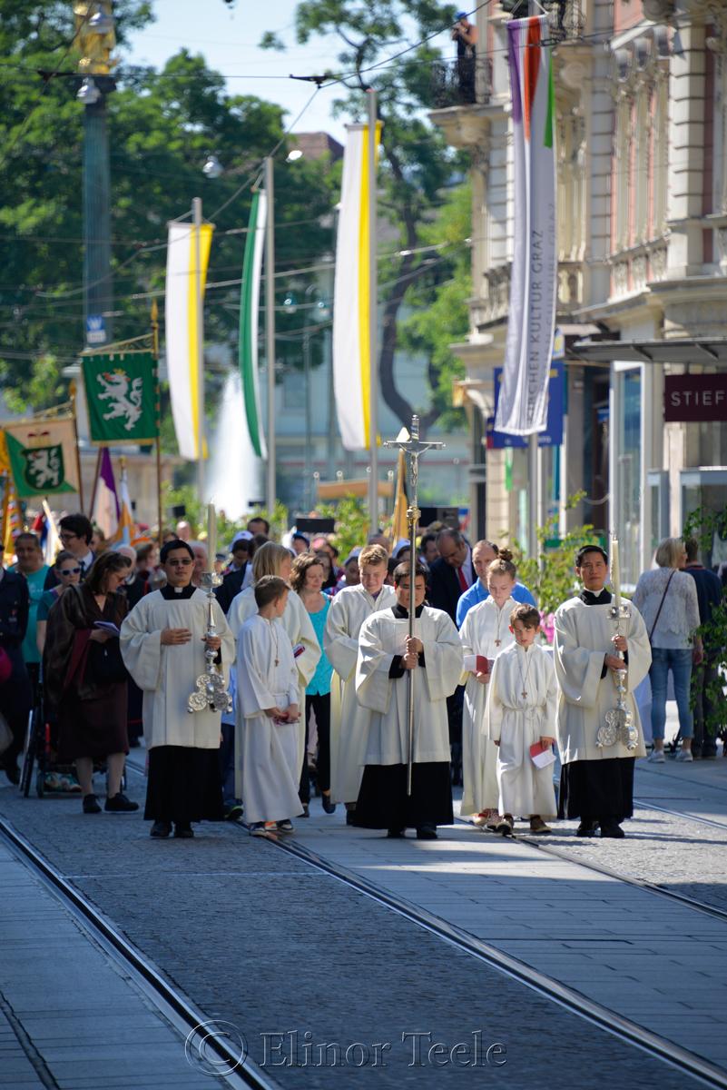 On the Herrengasse, Corpus Christi Procession, Graz, Austria