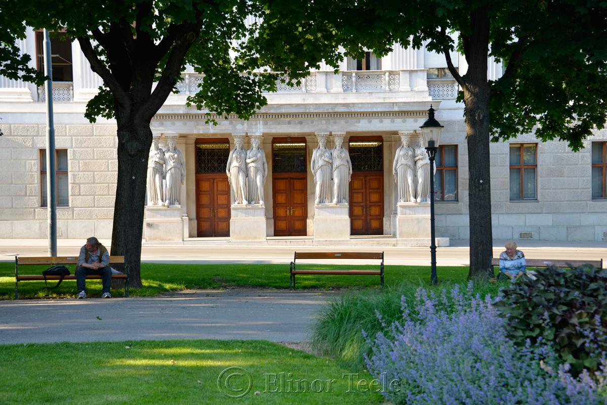 Park & Parliament, Vienna, Austria