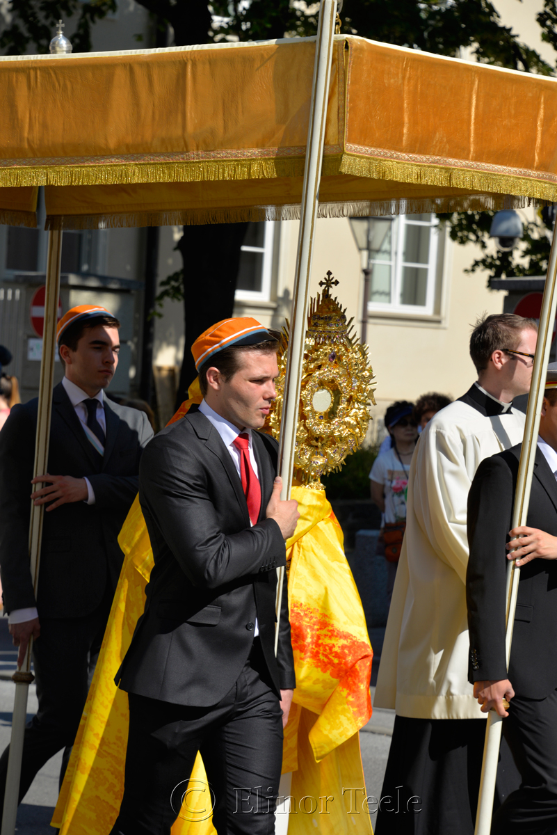 Protecting the Monstrance, Corpus Christi Procession, Graz, Austria