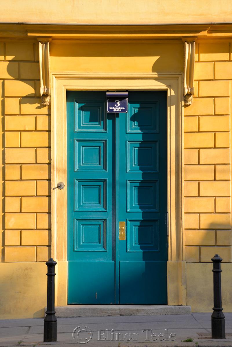 Green Door, Siebensterngasse, Vienna, Austria