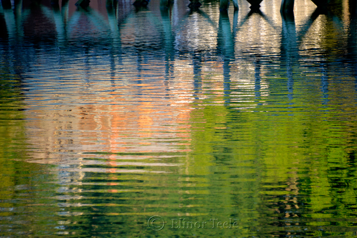 Reflections, Footbridge, Annisquam MA