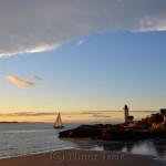 Cloud Arc, Sailboat & Lighthouse