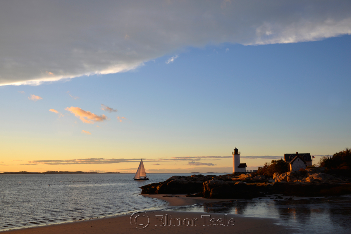 Cloud Arc, Sailboat & Lighthouse