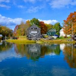 Fall Foliage - Burnham Boatbuilding, Essex MA 2