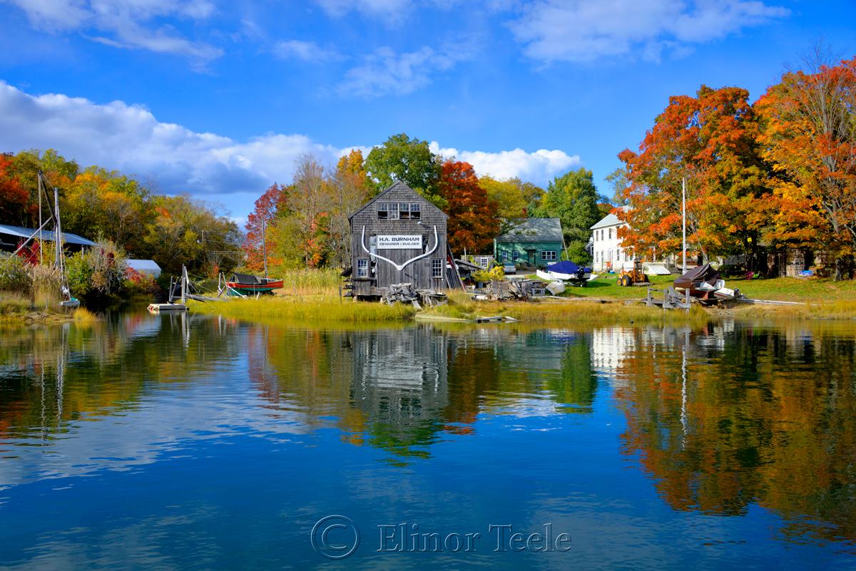 Fall Foliage - Burnham Boatbuilding, Essex MA 2