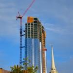Millennium Tower Under Construction, Boston MA