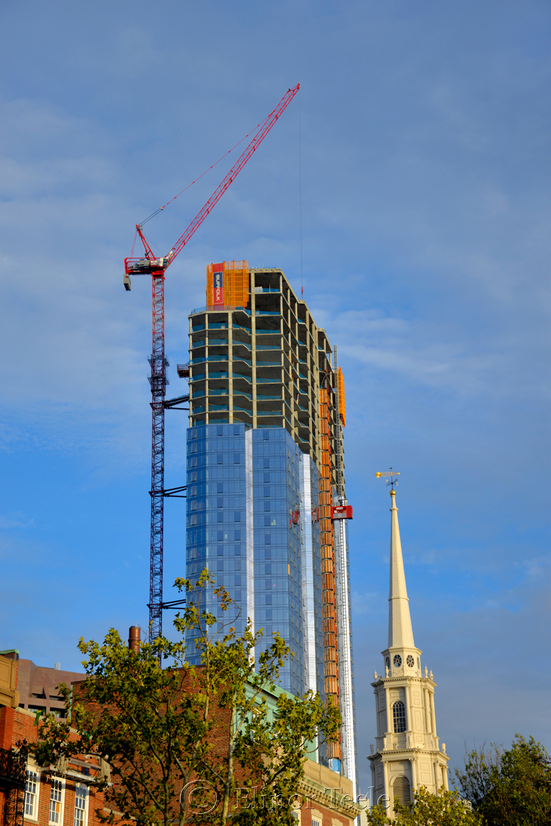 Millennium Tower Under Construction, Boston MA