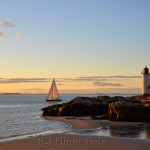Sailboat, Lighthouse & Sunset