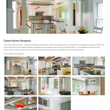 Custom Cabinetry Website
