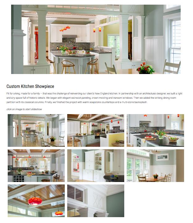 Custom Cabinetry Website